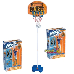 Dede toys - Nerf Ayaklı Basketbol Potası Ayarlanabilir Maksimum Boy 155 Cm