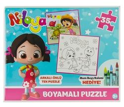 NİLOYA - Niloya Boyamalı Puzzle