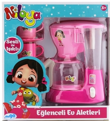 MEGA - Niloya Koyu Pembe Kahve Makinesi Seti Yh8082