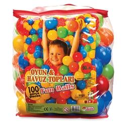 Dede Toys - Oyun Havuzu Topu 100 Adet Özel Çantada 9 Cm