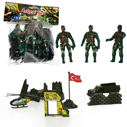 Oyuncak Asker Taburu Oyuncak Asker Seti 114 Parça Ücretsiz Kargo - Thumbnail