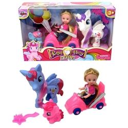 Vardem Oyuncak - Oyuncak Bebek Arabalı 2 Adet sevimli Pony At Set Balon Aksesuarlı