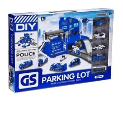 Can-em Oyuncak - Oyuncak Büyük Polis Otopark Seti 5 Araçlı