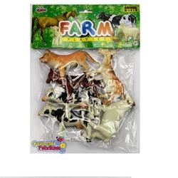 Vardem Oyuncak - Oyuncak Çiftlik Hayvanları Seti 13 Cm 6 Adet