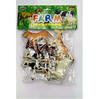 Oyuncak Çiftlik Hayvanları Seti 13 Cm 6 Adet
