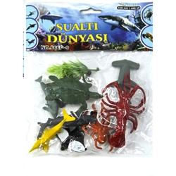 Vardem Oyuncak - Oyuncak Deniz Hayvan Seti 8 Cm 9 Parça