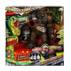 Sunman - Oyuncak Goril 25 Cm Sesli ve Işıklı Figürlü Oyun Seti
