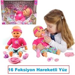 Vardem Oyuncak - Oyuncak İnteraktif Mila Bebek Yüzü Hareketli Nefes Efektli 16 Foksiyonlu KARGO ÜCRETSİZ