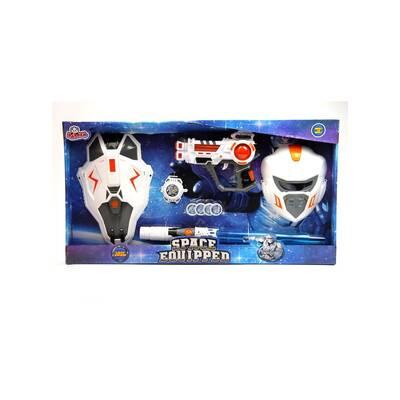 Oyuncak Kılıç kalkan Maskeli Pilli Işıklı Set