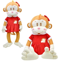 Selay - Oyuncak Kız Peluş Maymun Cuci 100 cm
