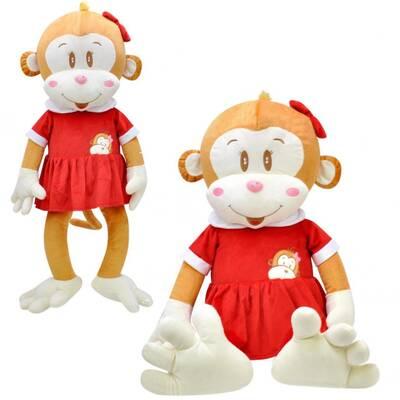 Oyuncak Kız Peluş Maymun Cuci 100 cm