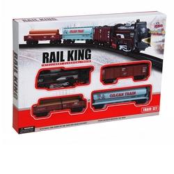 Vardem Oyuncak - Oyuncak Klasik Ekspres Tren Seti 18 Parça (Rail King)