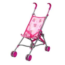 Birlik Oyuncak - Oyuncak Metal Bebek Arabası Baston Puset Pembe-Gri