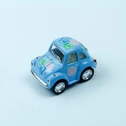 Oyuncak Metal Çekbırak Volkswagen Little Beetle Araba (Pastel Renkli Desenli) - Thumbnail