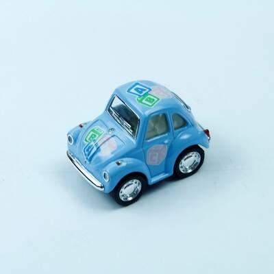 Oyuncak Metal Çekbırak Volkswagen Little Beetle Araba (Pastel Renkli Desenli)