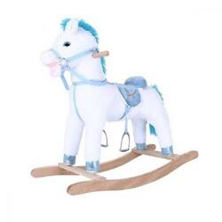 Selay - Oyuncak Müzikli Sallanan At Beyaz-Mavi 65 cm
