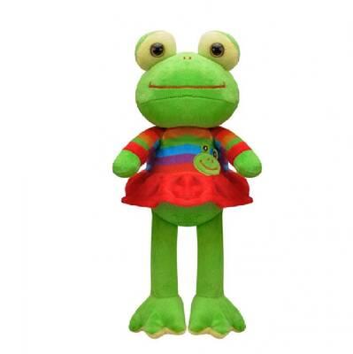 Oyuncak Peluş Kurbağa Elbiseli 23 Cm