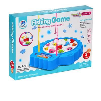 Oyuncak Pilli Balık Tutma Oyunu 15 Parça