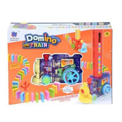 Oyuncak Pilli Domino Taşı Yerleştiren Tren Oyun Seti