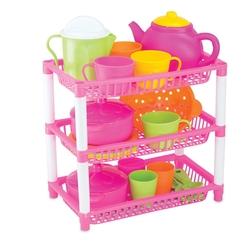 Dede toys - Oyuncak Plastik Üç Katlı Mutfak Sepeti