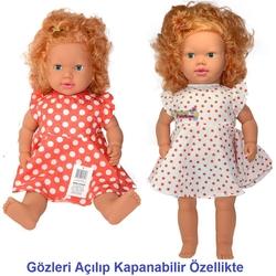 Gamze Toys - Oyuncak Saçlı Et bebek Eda Türkçe Sesli Büyük Boy 60 cm