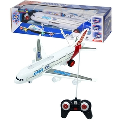 Can-em Oyuncak - Oyuncak Şarljlı Uzaktan Kumandalı Uçak A380 Sesli Işıklı 36x36 Cm