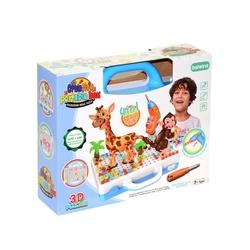 Bircan Oyuncak - Oyuncak Tamir Matkaplı 3D Creative Puzzle Eğitici Tamir Set 11B