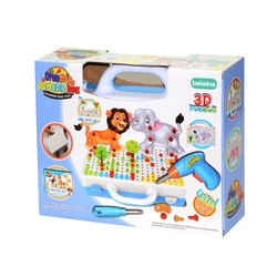 Oyuncak Tamir Matkaplı 3D Creative Puzzle Eğitici Tamir Set 11B - Thumbnail