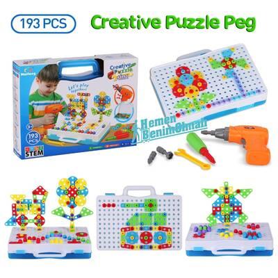 Oyuncak Tamir Matkaplı 3D Creative Puzzle Eğitici Tamir Set 11B