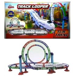 Vardem Oyuncak - Oyuncak Tren Seti Hiz Treni işikli 113 Parça