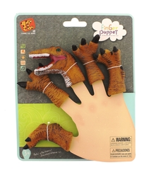 MEGA - Parmak Kuklası Turuncu T-Rex