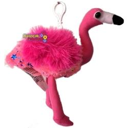 Vardem Oyuncak - Peluş Gökkuşağı Flamingo 15 Cm Askılı