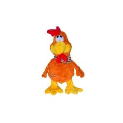 Halley Oyuncak - Pelüş Hareketli Çılgın Oyuncak Tavuk Sesli Müzikli 40 Cm