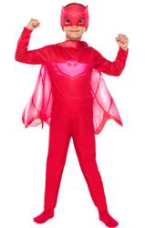 PJ MASK - PijaMaskeliler Baykuş Kız Kostüm 7-9 Yaş