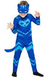 PJ MASK - PijaMaskeliler Kedi Çocuk Kostüm 7-9 Yaş