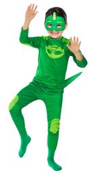 PJ MASK - PijaMaskeliler Kertenkele Çocuk Kostüm 7-9 Yaş