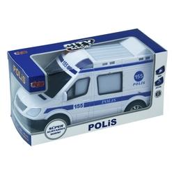 Vardem Oyuncak - Pilli Işıklı Sesli Hareketli Oyuncak Polis Arabası