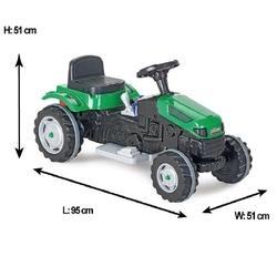 Pilsan Oyuncak - Pilsan Active Akülü Traktör 6 Volt Yeşil