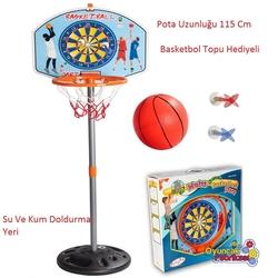 Pilsan Oyuncak - Pilsan Eğlenceli Ayaklı Basketbol Seti ve Dart Seti 115 Cm