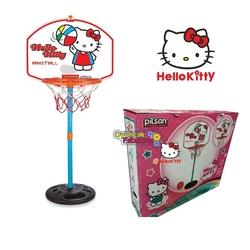 Pilsan Oyuncak - Pilsan Hello Kitty Ayaklı Basket Potası Seti 117 Cm 3+Yaş