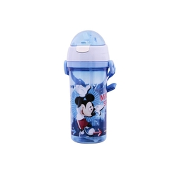 Disney - Pipetli Su Matarası Şeffaf Disney Mickey Mause 500 ml