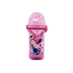 Disney - Pipetli Su Matarası Şeffaf Disney Minie Mause 500 ml