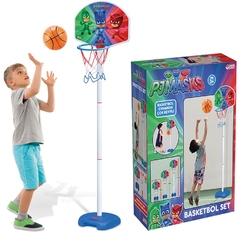 Dede Toys - Pjmask Ayarlanabilir Boy Ayaklı Basketbol Seti
