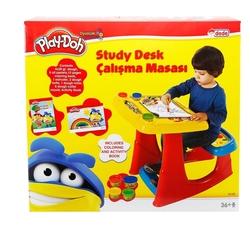 Play-Doh - Play Doh Ders Çalışma Masası Oyun Hamuru Aktiviteli Seti