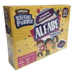PlayWood - Play Wood Eğitici Ahşap Alfabe- Puzzle 60 Parça