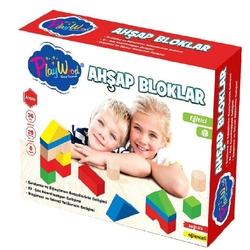 PlayWood-Onyıl - Play Wood Eğitici Ahşap Oyuncak Ahşap Bloklar 29 Parça