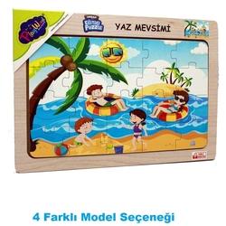 PlayWood-Onyıl - PlayWood Ahşap Eğitici Puzzle Yaz Mevsimi 20 Parça 4 Model