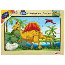 PlayWood-Onyıl - PlayWood Ahşap Puzzle Dinozorlar Dünyası 20 Parça Ahşap Eğitici Yapboz