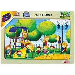 PlayWood-Onyıl - PlayWood Ahşap Puzzle Oyun Parkı 20 Parça Ahşap Eğitici Yapboz