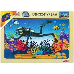 PlayWood-Onyıl - PlayWood Eğitici Ahşap Puzzle Denizde Yaşam 20 Parça